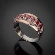 Ювелирные украшения из серебра с золотыми вставками оптом