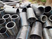 Трубы ПНД отходы(газовые и водяные) куски, лежалые